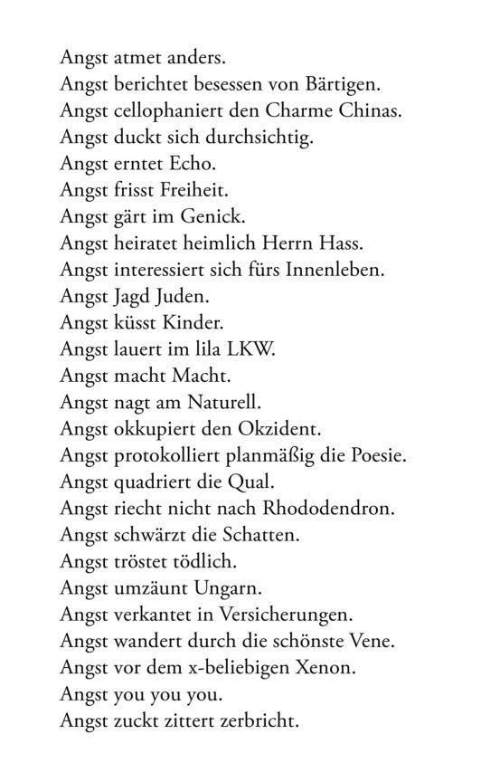 Alphabet der Angst, 2018 © Loredana Nemes